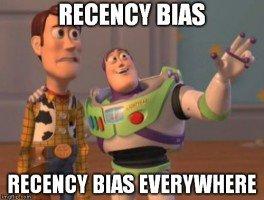 recency bias everywhere